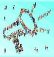 crowd people isometric megaphone vector image