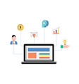 customer relationship management system crm vector image vector image