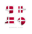 denmark label flags template design vector image vector image