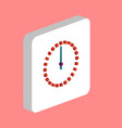 dial clock time computer symbol vector image