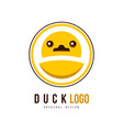 duck logo creative badge for your own design vector image vector image