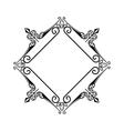 elegant frame decorative icon vector image