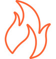 flame line icon vector image vector image