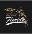 florida state typography graphics for t-shirt vector image