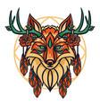 fox head vector image