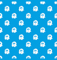 ghost pattern seamless blue vector image vector image