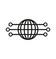 globe abstract logo vector image vector image