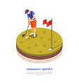 golf isometric composition vector image vector image