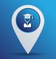 graduate hat avatar symbol icon college or vector image