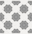 grunge seamless pattern with round floral ornament vector image vector image