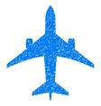 Jet Plane Grainy Texture Icon vector image vector image