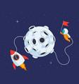 lunar landing mission vector image vector image