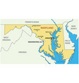 maryland - state usa vector image vector image
