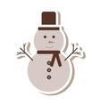 merry christmas snowman character icon vector image vector image