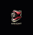 modern professional knight logo design template vector image