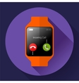 Modern smart watch icon Flat design style vector image vector image