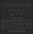 Monogram font thin line mockup hipster alphabet vector image vector image