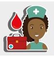 nurse medical suitcase woman vector image vector image