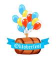 oktoberfest design background beer festival vector image vector image