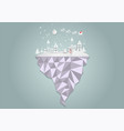 paper art style city for christmas with vector image vector image