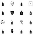 percent icon set vector image vector image