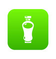 perfume bottle glamour icon green vector image vector image