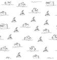 Piranha seamless pattern vector image vector image