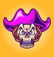 pirates candy skull vector image