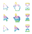 Pixel cursors icons mouse hand arrow hourglass