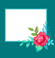 postcard decorated with flower vector image vector image