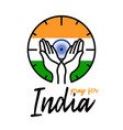 pray for india india flag with text vector image