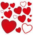 red hearts background icon vector image vector image