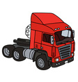 Red towing truck vector image vector image