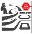 roadcurves perspectives turns twists loops vector image vector image