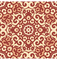 seamless pattern with bright brown ornament Tile vector image vector image