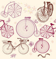 seamless wallpaper pattern with retro bicycles vector image vector image