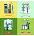 set of scientific research laboratories vector image