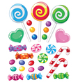 set sweets vector image vector image