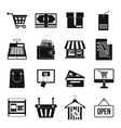 Shopping icons set simple style vector image vector image
