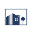 simple residential logo vector image vector image