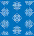 snowflake winter background vector image vector image