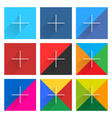Social network square web sign with plus icon vector image vector image