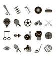 sport icon signs and symbols black set vector image vector image