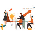 startup business people group working everyday vector image vector image