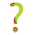 Sticker question vector image vector image