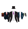 suit group vector image