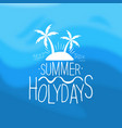 summer holidays template design element can vector image vector image