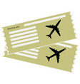 the blank ticket plane icon vector image vector image