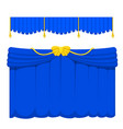 theather scene blind blue curtain stage fabric vector image