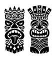 tiki statue pole totem design - traditional vector image